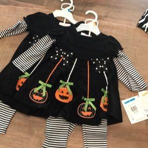 Bonnie Baby Halloween Outfit, Pumpkins